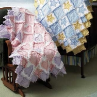 Flannel baby rag quilts  $65 without batting/ with batting $85