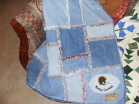 Blue Jean rag throw $50